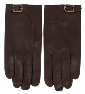 John Lobb Handmade Luxury Twinstitch Buckle Gloves Brown BNWT Size 9 RRP £325
