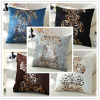 Damask Thick Velvet Cushion Cover Wedding Decor Bed Sofa Cozy Pillow Cover Home