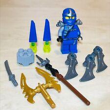 Lego Ninjago Jay ZX Mini Figure & Weapons from Set 9553 Booster Pack Blue Ninja