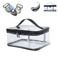 New Cosmetic Makeup Toiletry Clear PVC Travel Zipper Wash Bag Holder Pouch Bags