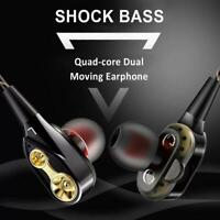3.5mm HIFI Super Bass Headset Wired In-Ear Earphone Stereo Earbuds *Headphone*