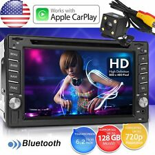 "6.2"" 2Din Touch Car Stereo Radio Apple iPhone CarPlay Bluetooth DVD FM Player US"