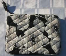 "Vera Bradley Camellia Square Cotton Clutch Pouch Zip Around 8 ½"" x 6 ½"" Retired"