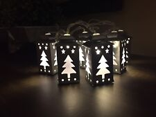 "80"" Tree Lantern Led String Light Garland Battery Operated with Timer Warm White"