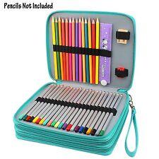 NIUTOP 120 Slots Pencil Case PU Leather Large Capacity Pencil Bag Pen Holder Bag