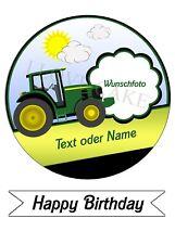 Tortenbild,Tortenfoto,Tortenaufleger Traktor (Fontant Papier)
