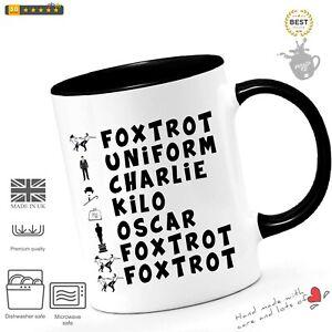 Leaving Mug Gifts Police Phonetic Alphabet Joke Funny Mugs for Work Colleagues