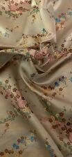 Champagne Multicoloured BlossomFlower Chinese Brocade Fabric 45''PRICE PER METER