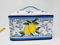 Inspirado Stonelite Seattle USA Bread Box/Cookie Jar/Canister Lemon Design