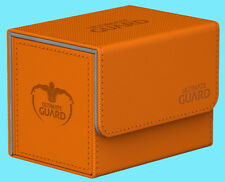 ULTIMATE GUARD XENOSKIN ORANGE SIDEWINDER 80+ DECK CASE Side Loading Card Box