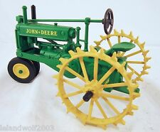 JOHN DEER MODEL 1934 A RARE TRACTOR WITH RUBBER FRONT AND FIELD WHEELS ON BACK