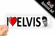 v44 I Love Heart Elvis Presley BW Picture sticker Bumper Window Laptop THE KING