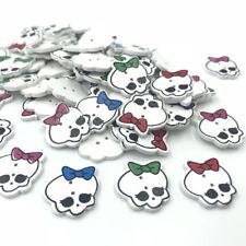 DIY 50X Cartoon Wood buttons Skeleton Head buttons Scrapbooking Handicrafts 20mm