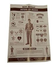 """Vintage Boy Scout Uniform & Insigna Paper Poster 11 x 15.5"""""""