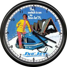 Sno-jet SST 1971 SnoJet Snowmobile Racing Dealer Retro Vintage Sign Wall Clock