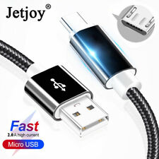 2M/1M Braided Extra Long Fast Charge Micro USB Data Sync Phone Charger Cable
