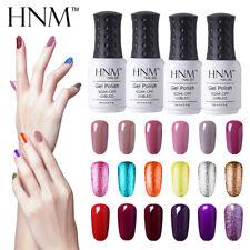 HNM 8ml Colore Gel Polish Gel Semipermanente per Unghie Manicure Base Top Coat