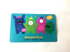 RENAUD-BRAY Limited Edition HALLOWEEN MONSTERS collectible Gift Card No Value