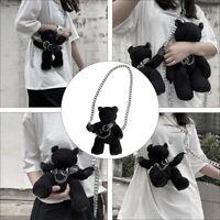 1 Pc Small Size Plush Bag Cartoon Plush Bear Shoulder Bag Crossbody Bag