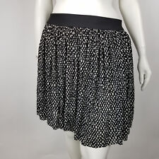 c455c9f9d Vince Camuto Womens Skirt Pleated Black Geo Pattern Size XL