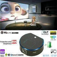 1080P Mini Pocket DLP HD Projector Wifi Bluetooth Smart Cinema HDMI USB Android