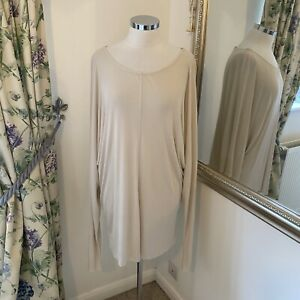Cos L 16 18 beige slouchy light weight bat wing tunic thin knit modal casual