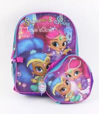 Shimmer And Shine Backpack With Heart Shape Lunch Tote Set