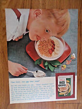 1954 Kellogg's Rice Krispies Ad You Can Hear Them