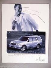 Robert Townsend for Lincoln Navigator PRINT AD - 2000 ~~ 2001 model