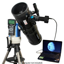 "Black 6"" Automated GPS Reflector Telescope with USB HD Camera - Computerized"