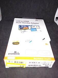 USB to HDMI Multi-Monitor Adapter- J5 Create. HD 1080p. Open Box