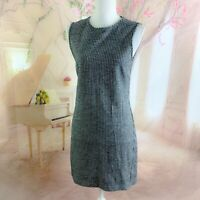 NEW Theory Women's Wool Herringbone Adraya Shift Dress Size 4
