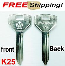 2 Key (METAL) BLANK KEY FIT FOR JEEP LIBERTY WRANGLER CHEROKEE GRAND CHEROKEE