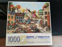 The Village Green-  1000 Piece Jigsaw Puzzle - Small Hole in Box Lid