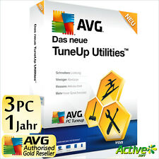 TuneUp Utilities 2020 3 PC 1J Vollversion AVG PC TuneUp LEISTUNG UE 2021 DE