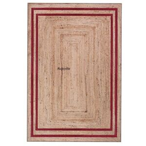 Jute Rug 100% Natural Hand Braided style Indoor & Outdoor home decor Modern Rugs