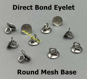Dental Orthodontic Direct Bond Eyelets Round Base Crimpable Hook Lingual Buttons