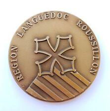 Médaille bronze souvenir Region Languedoc Roussillon le sud intense. AV68