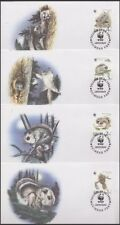 ESTONIA 1994 WWF THE SIBERIAN FLYING SQUIRREL SET (4) FDC's (ID:347/D46106)