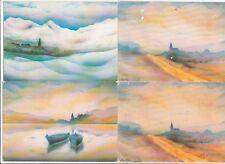 Lot de 4 cartes postales MONTELLIER AIN