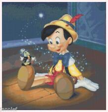 "Disney's NEW ""Pinocchio and Jiminy Cricket"" Cross Stitch Pattern CD"