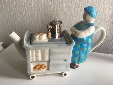 Vintage Tony Carter Collectible Trolly Lady Novelty Teapot Excellent Condition