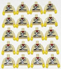LEGO LOT OF 20 MINIFIGURE TORSOS TAN SAFARI FIGURE PARTS POCKETS AND CANISTER