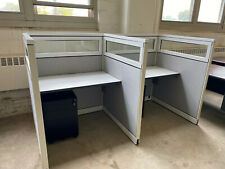 Telemarketer Workstationcubicle Station Withglass By Steelcase 42x42x52h