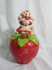 """Vintage Strawberry Shortcake Coin Bank 7"""" Tall - Has Chips"""