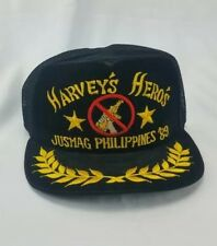 Harvey's Hero's JusMag Philippines '89 Snapback Trucker Hat with Gold Leaf Brim