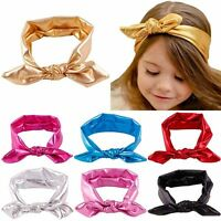 Stylish Baby Girls Toddler Stretch Ear Turban Knot Hairband Rabbit Bow Headband