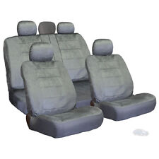 PREMIUM GRADE GREY VELOUR FABRIC CAR SEAT COVERS SET FOR NISSAN