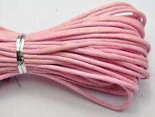 Cordón de cuero del zurriago 3mm cable de Perú natural 3 metros fabricación de joyas Hazlo tú mismo