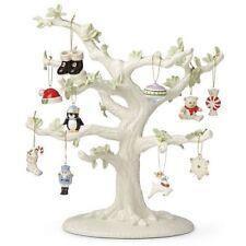 Lenox ~ Set of 10 Christmas Memories Miniature Ornaments Set And Tree ~ Nib